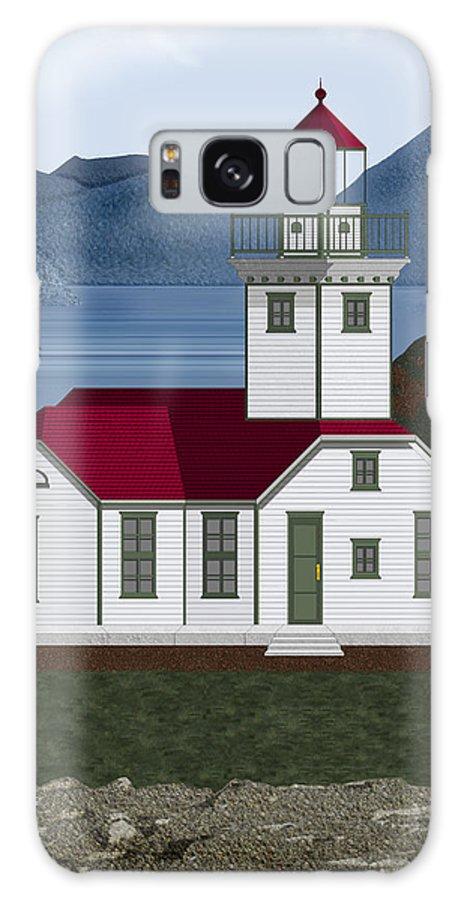 Patos Island Lighthouse Galaxy S8 Case featuring the painting Patos Island Lighthouse by Anne Norskog