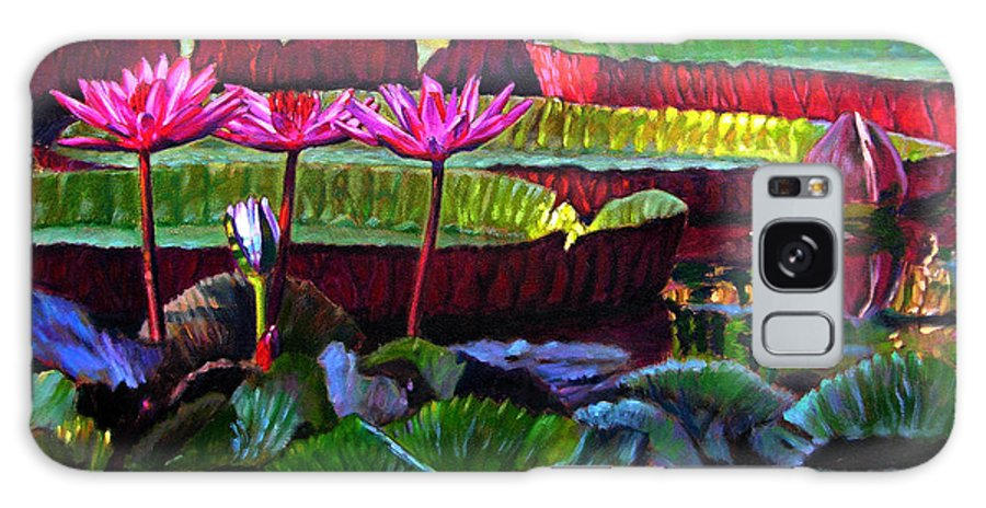 Water Lilies Galaxy S8 Case featuring the painting Patterns Of Color And Light by John Lautermilch