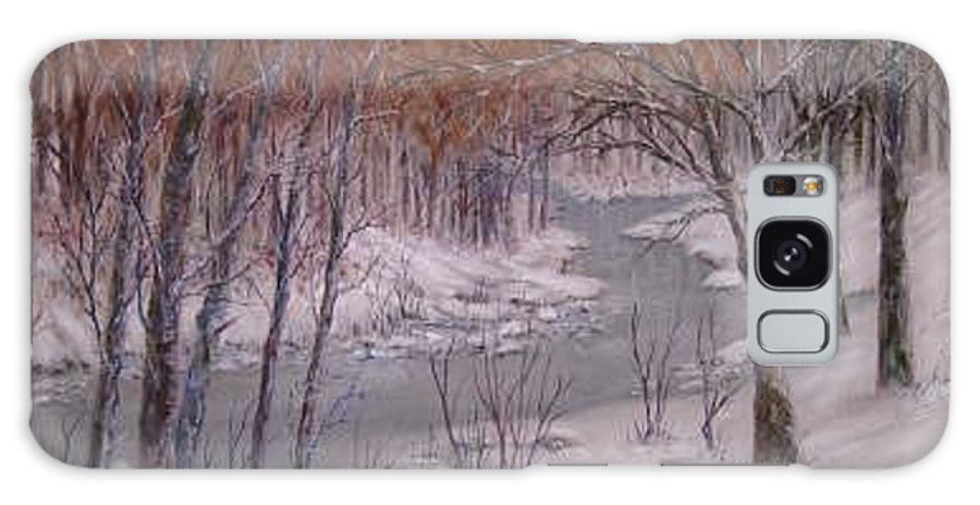 Snow; Landscape Galaxy S8 Case featuring the painting Peace And Quiet by Ben Kiger