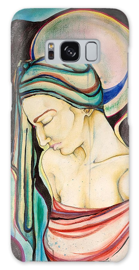 Peace Galaxy Case featuring the painting Peace Beneath The City by Sheridan Furrer