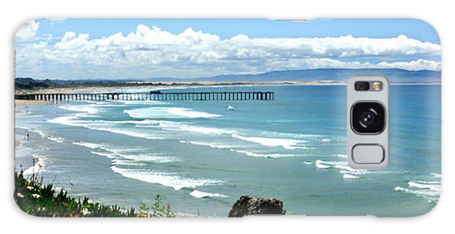 Pismo Beach Galaxy S8 Case featuring the photograph Pismo Beach Pier Panorama by Paul Schneider