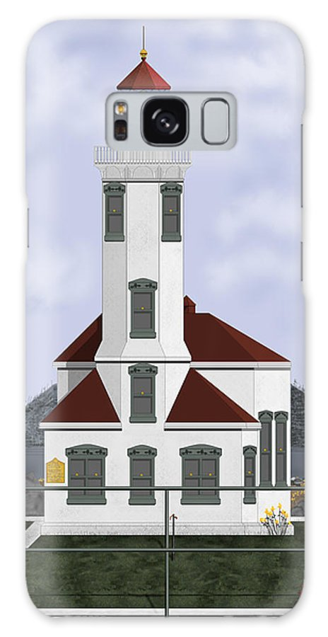 Lighthouse Galaxy S8 Case featuring the painting Point Wilson Lighthouse by Anne Norskog
