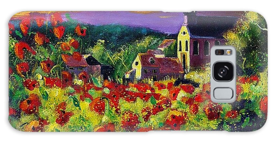 Flowers Galaxy Case featuring the painting Poppies In Foy by Pol Ledent