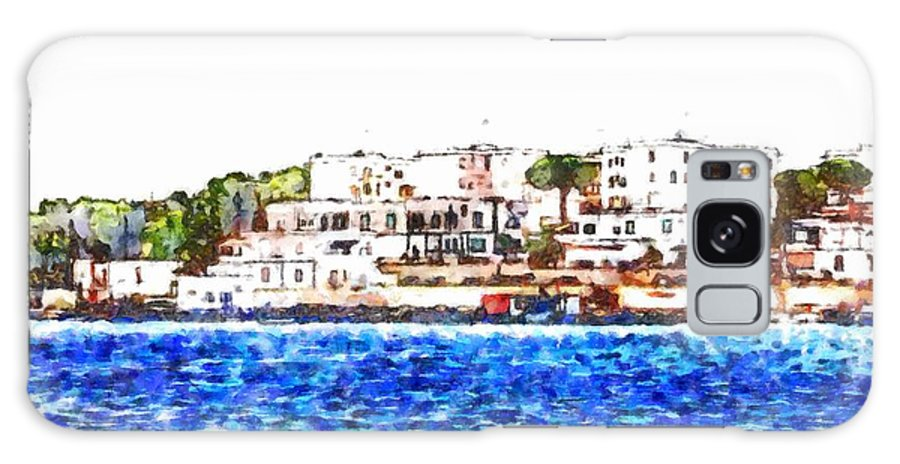 Cityscape Galaxy S8 Case featuring the painting Port Of Brindisi by Giuseppe Cocco