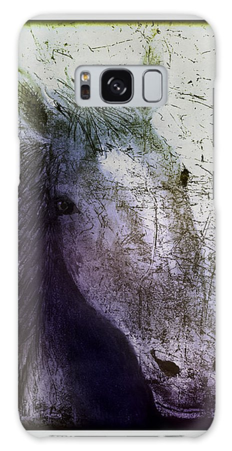 Horse Galaxy S8 Case featuring the digital art Portrait Of A Horse by Arline Wagner