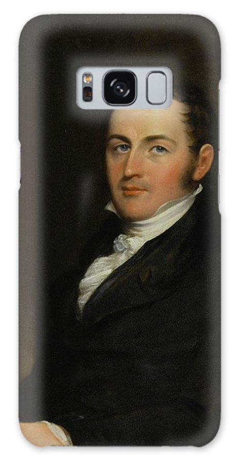John Trumbull (1756 - 1843) Portrait Of George Gallagher Galaxy S8 Case featuring the painting Portrait Of George Gallagher by John Trumbull