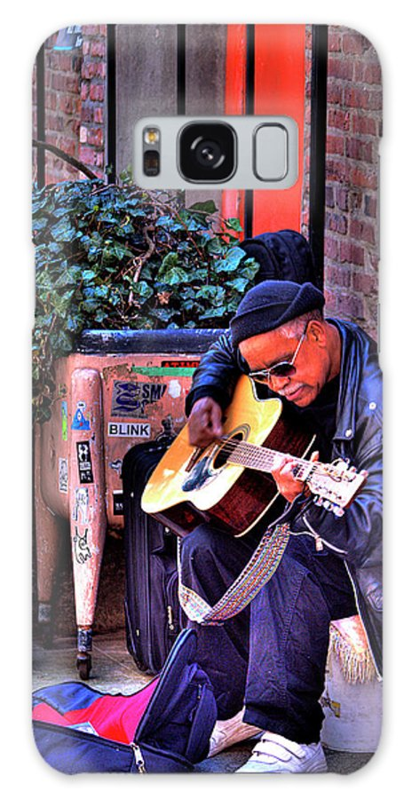 Street Musician Galaxy S8 Case featuring the photograph Post Alley Musician by David Patterson