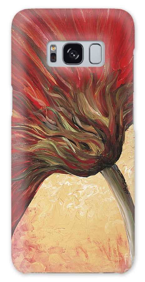 Floral Galaxy S8 Case featuring the painting Power Of Red by Nadine Rippelmeyer