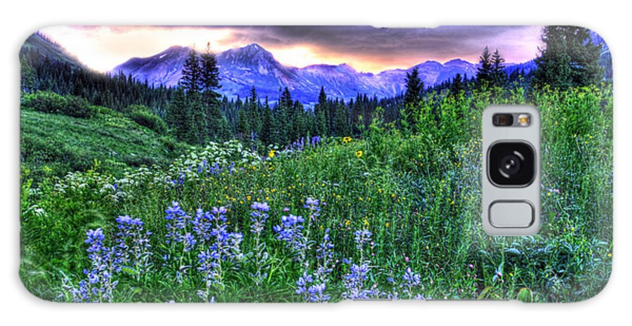 Colorado Galaxy S8 Case featuring the photograph Purple Skies And Wildflowers by Scott Mahon