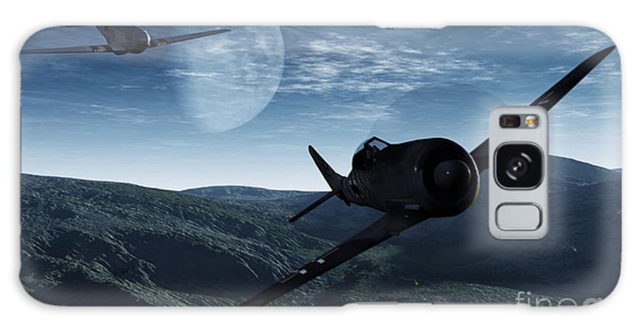 Dogfight Galaxy Case featuring the digital art Pursuit Of The Fox by Richard Rizzo