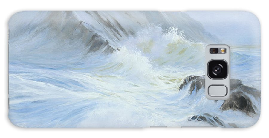 Seascape Galaxy S8 Case featuring the painting Quiet Moment II by Glenn Secrest