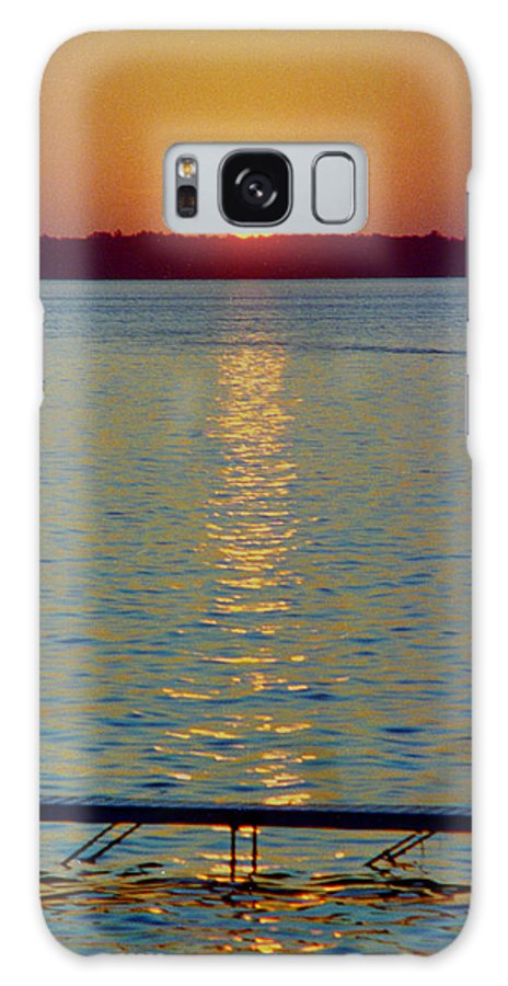 Sunset Galaxy S8 Case featuring the photograph Quite Pier Sunset by Randy Oberg