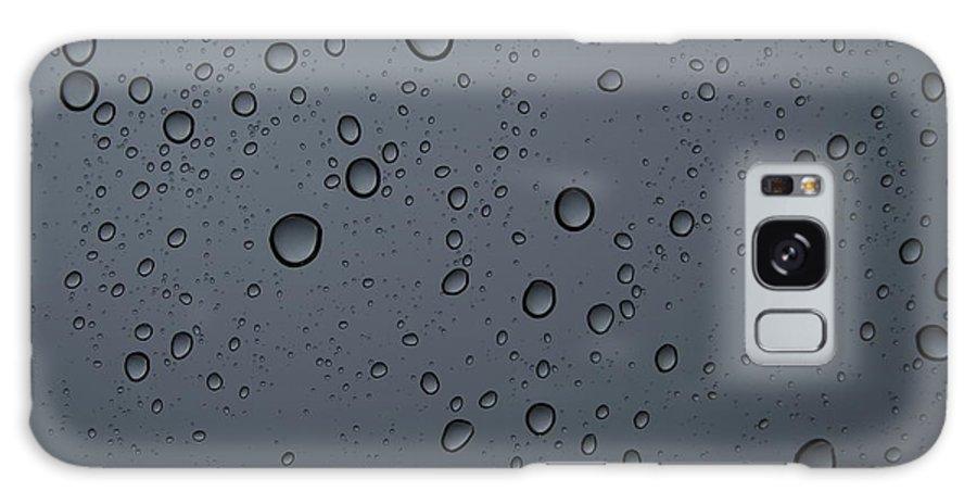 Rain Galaxy S8 Case featuring the photograph Rain On A Window by Raschel Hansen