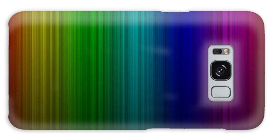 Abstract Galaxy S8 Case featuring the digital art Rainbow Aurora by Miroslav Nemecek