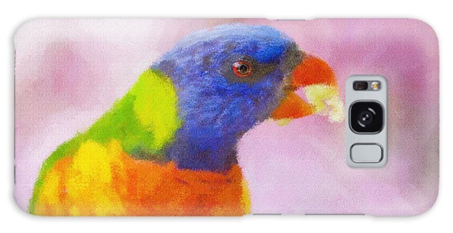 Rainbow Lorikeet Galaxy S8 Case featuring the photograph Rainbow Lorikeet by Sheila Smart Fine Art Photography