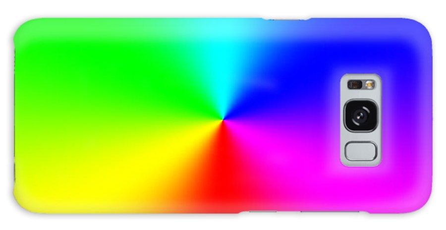 Abstract Galaxy S8 Case featuring the digital art Rainbow by Miroslav Nemecek