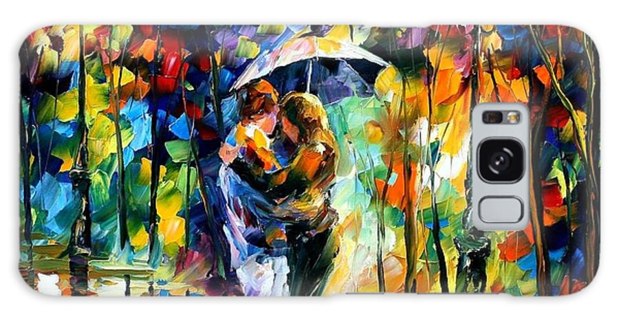 Afremov Galaxy S8 Case featuring the painting Rainy Dance by Leonid Afremov