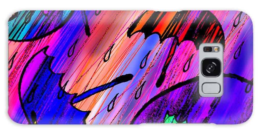 Abstract Galaxy S8 Case featuring the digital art Rainy Day Love by Rachel Christine Nowicki