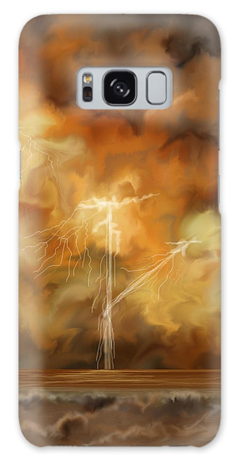 Anne Norskog Galaxy S8 Case featuring the painting Raw Power by Anne Norskog
