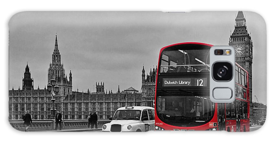 Red Bus Galaxy S8 Case featuring the photograph Red London Bus by Alice Gosling