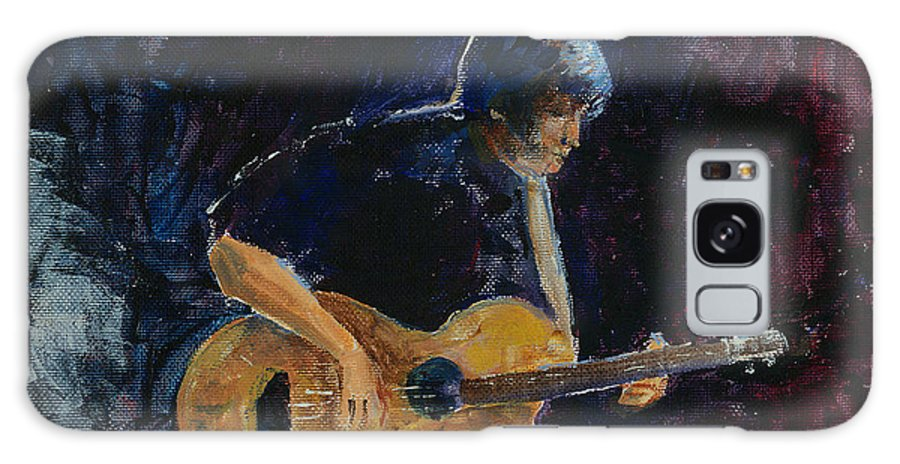 Guitar Galaxy Case featuring the painting Rock N Roll by Arline Wagner