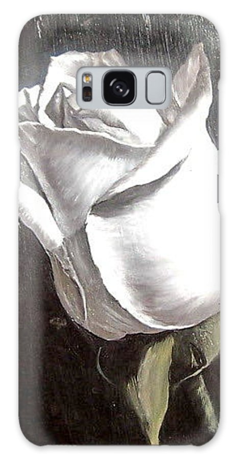 Flower Rose Still Life Galaxy S8 Case featuring the painting Rose 2 by Natalia Tejera