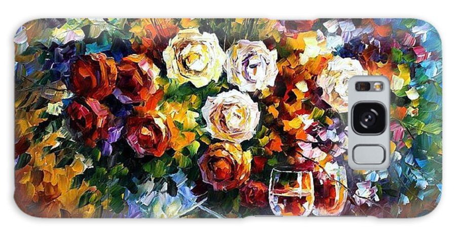 Afremov Galaxy S8 Case featuring the painting Roses And Wine by Leonid Afremov