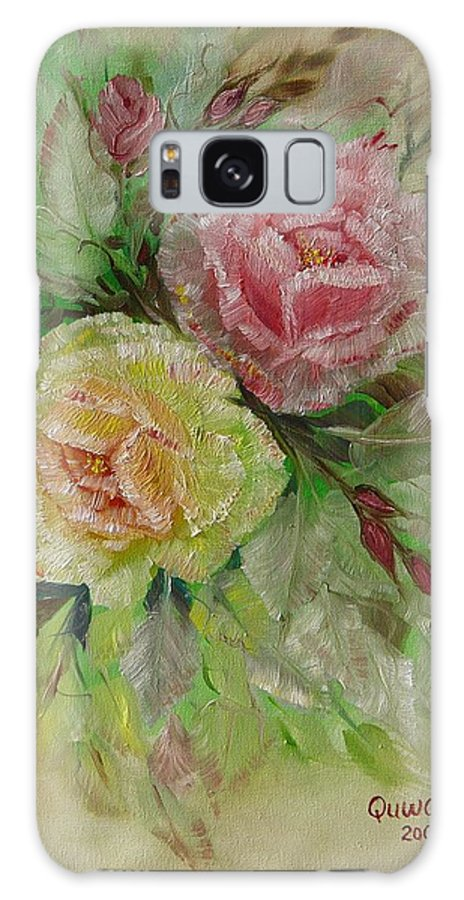 Roses Galaxy S8 Case featuring the painting Roses by Quwatha Valentine