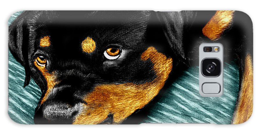 Rot Wilier Galaxy Case featuring the drawing Rotty by Peter Piatt