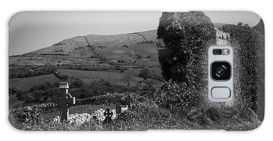 Irish Galaxy Case featuring the photograph Ruins In The Burren County Clare Ireland by Teresa Mucha