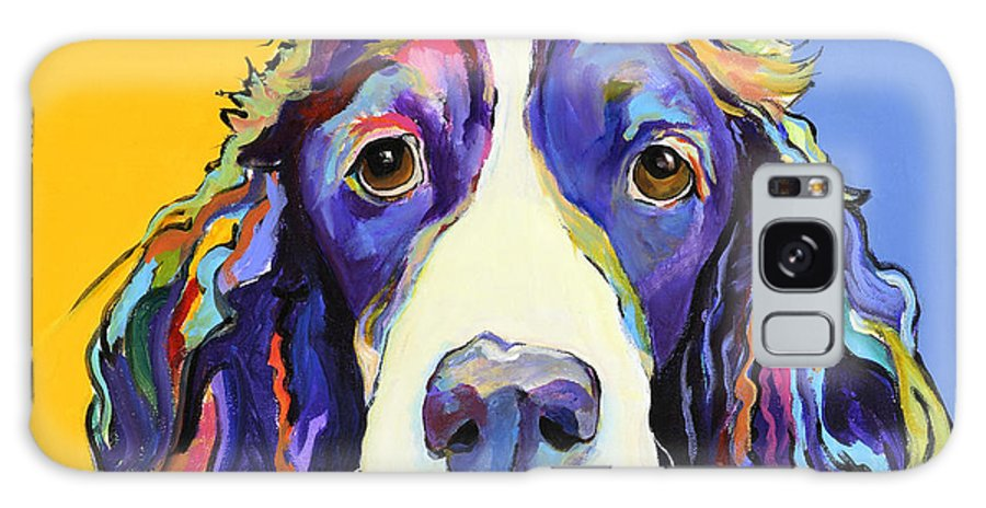 Blue Galaxy S8 Case featuring the painting Sadie by Pat Saunders-White