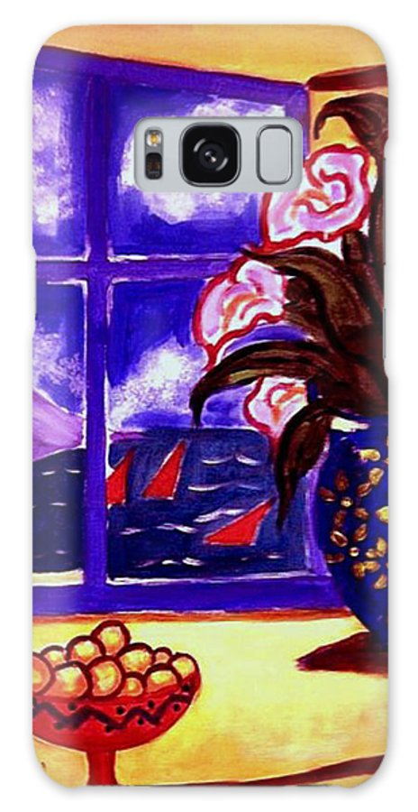 Contemporary Galaxy S8 Case featuring the painting Sailing By by Rusty Gladdish