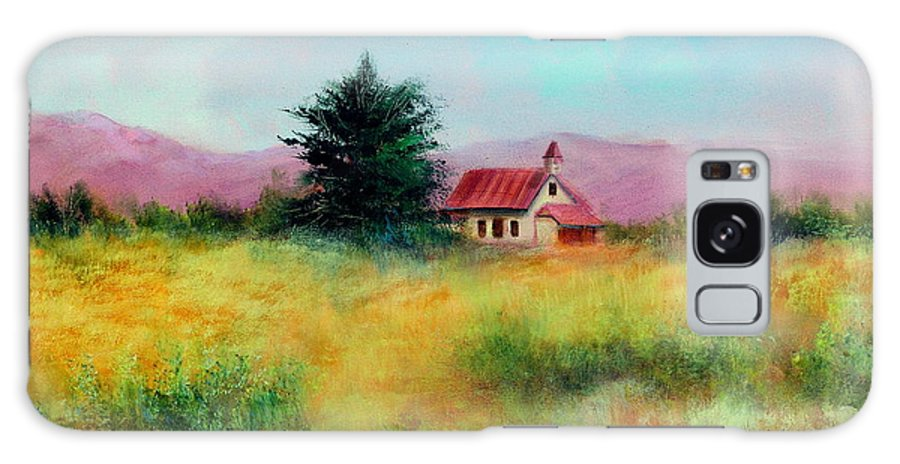 Country Galaxy S8 Case featuring the painting San Simeon School House by Sally Seago