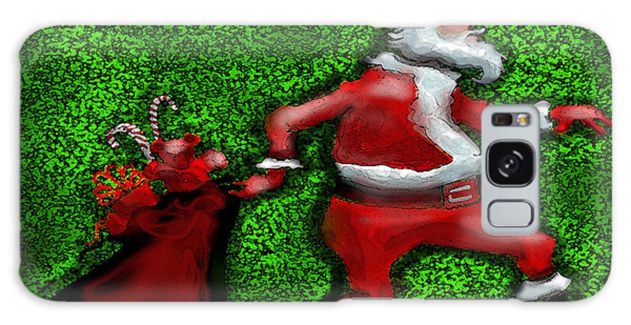 Santa Galaxy S8 Case featuring the greeting card Santa Claus by Kevin Middleton