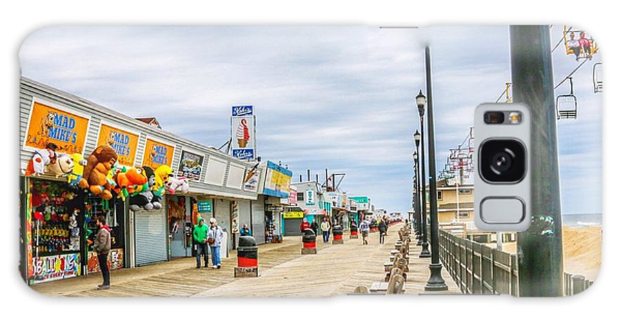This Is A Photo Of The Seaside Boardwalk Taken April 15th 2017 Galaxy S8 Case featuring the photograph Seaside Boardwalk by William Rogers