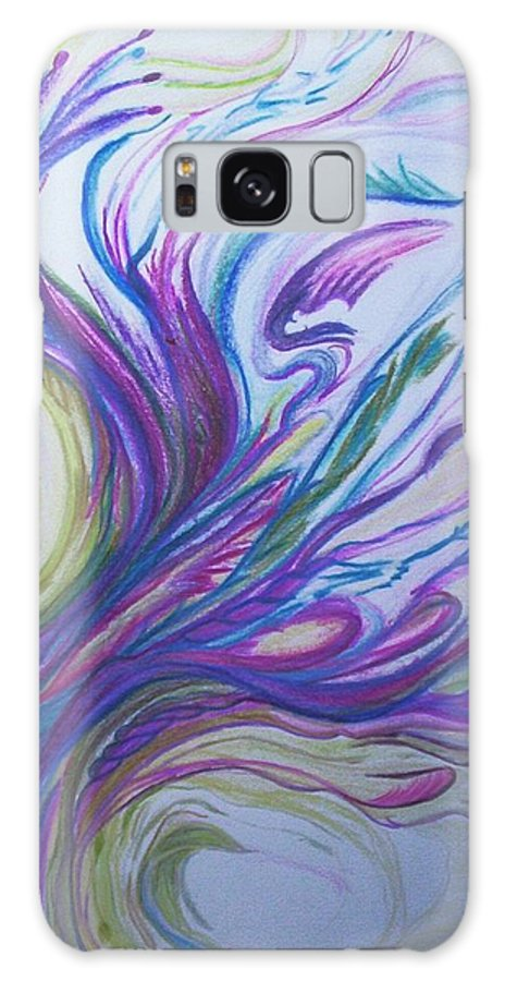 Abstract Galaxy S8 Case featuring the painting Seaweedy by Suzanne Udell Levinger
