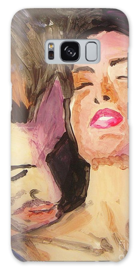 Love Galaxy S8 Case featuring the painting Secret Love by Vesna Antic