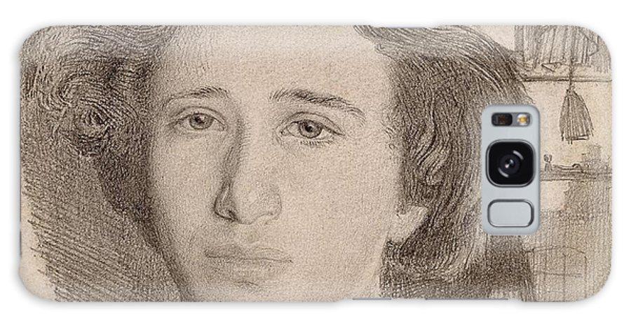Simeon Solomon  Self-portrait Galaxy S8 Case featuring the painting Self Portrait by Simeon Solomon