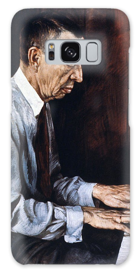 19th Century Galaxy Case featuring the painting Sergei Rachmaninoff by Granger
