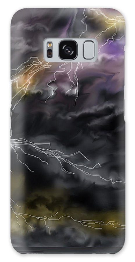 Seascape Galaxy S8 Case featuring the painting Shock And Awe by Anne Norskog