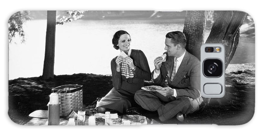 -picnic- Galaxy S8 Case featuring the photograph Silent Film Still: Picnic by Granger