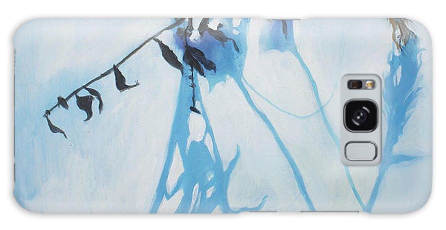 Lin Petershagen Galaxy S8 Case featuring the painting Silent Winter by Lin Petershagen