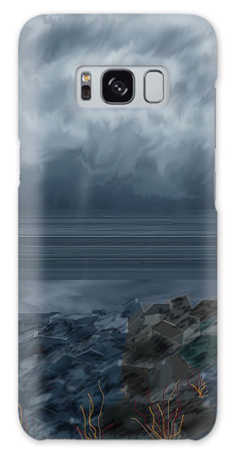 Seascape Galaxy S8 Case featuring the painting Slack Tide On The Jetty by Anne Norskog