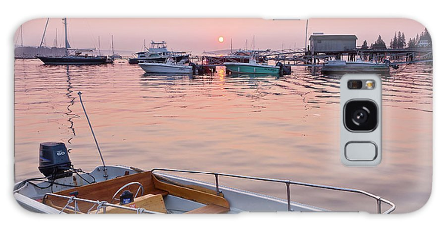 Boat Galaxy S8 Case featuring the photograph Southwest Harbor Sunrise by Susan Cole Kelly