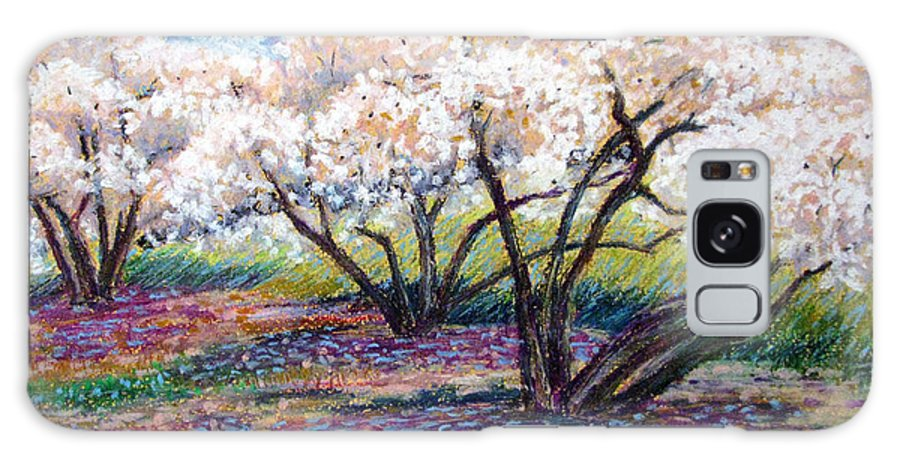 Oil Pastel Galaxy S8 Case featuring the painting Spring Has Sprung by Art Nomad Sandra Hansen