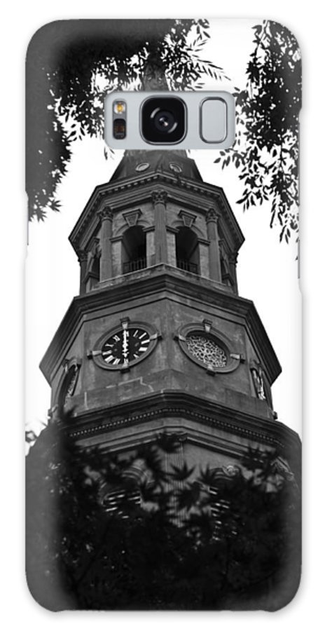 St. Joseph's Church Steeple Downtown Charleston South Carolina Lowcountry Black White Dustin Ryan Galaxy S8 Case featuring the photograph St. Philips Church Steeple by Dustin K Ryan