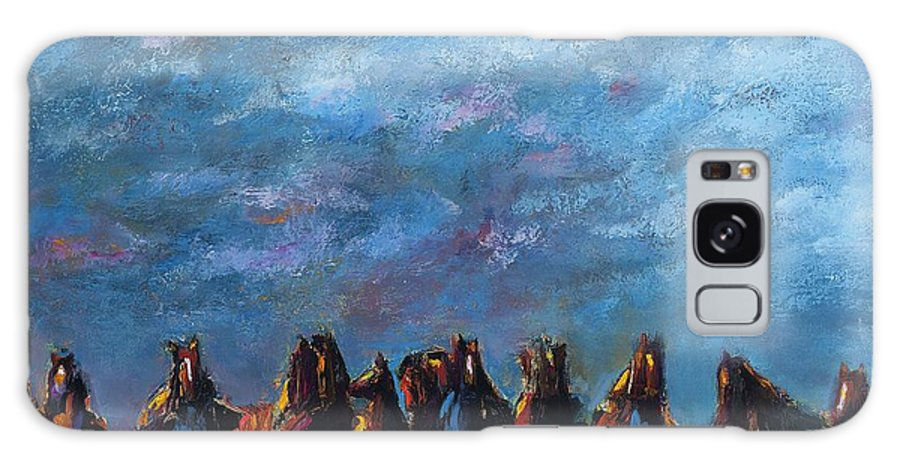 Horses Galaxy S8 Case featuring the painting Stampede by Frances Marino