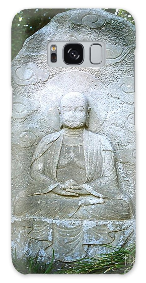 Stone Galaxy Case featuring the photograph Stone Buddha by Dean Triolo