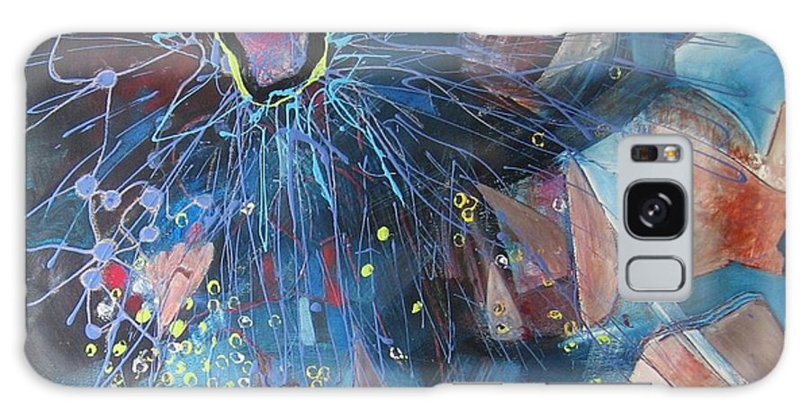 Abstract Paintings Galaxy Case featuring the painting Storm At Sea by Seon-Jeong Kim