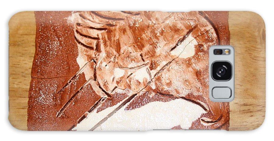 Jesus Galaxy S8 Case featuring the ceramic art Stream - Tile by Gloria Ssali